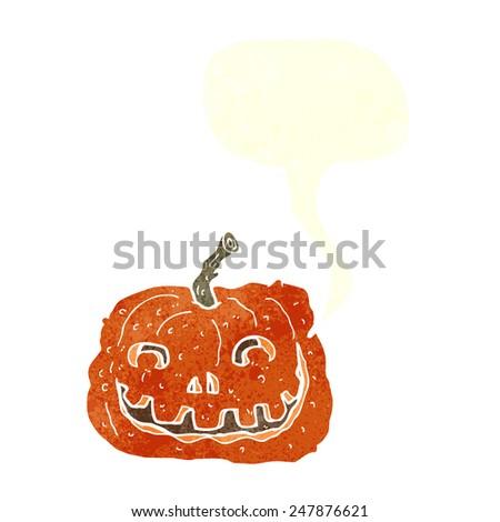 cartoon jack o lantern - stock vector