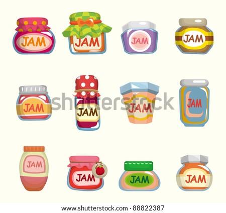 cartoon jam - stock vector