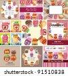 cartoon jam card - stock vector