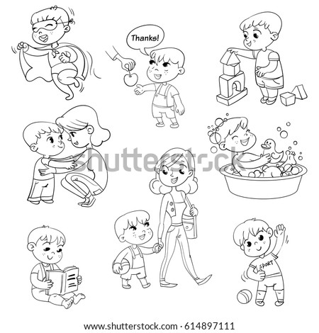 coloring pages daily activities images - photo#12