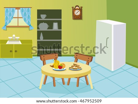 cartoon kitchen