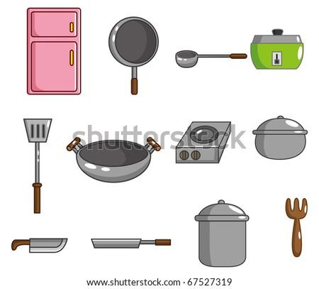 cartoon kitchen tool icon - stock vector