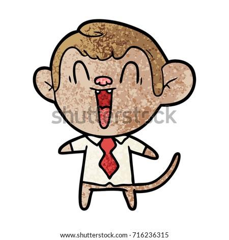Monkey laughing cartoon