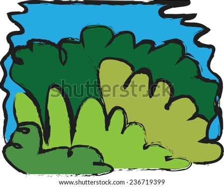 cartoon leaf green grunge background, vector