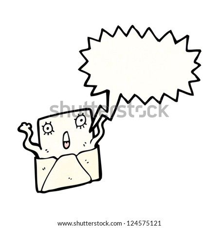 cartoon letter cartoon character