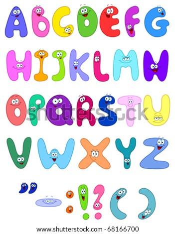 Cartoon letters - stock vector