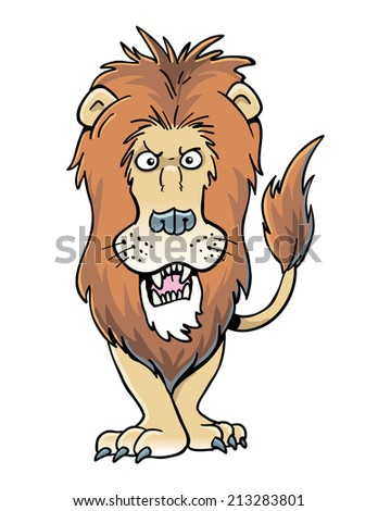 Cartoon Lion - stock vector