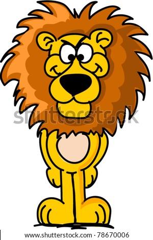 cartoon lion - stock vector