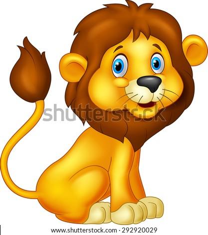 Animals cartoon drawing lion - photo#51