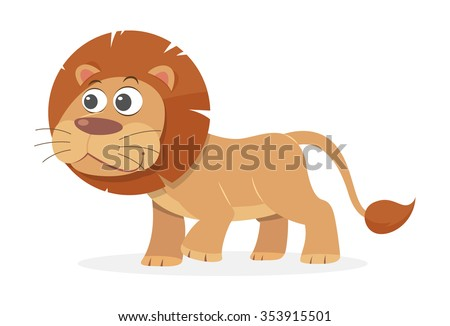 Cartoon Lion, vector - stock vector