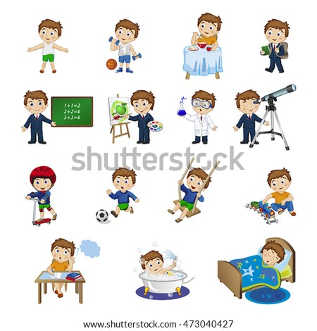 Multiple Kids Reading One Book Clipart