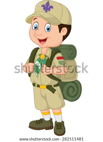 Cartoon little boy scout