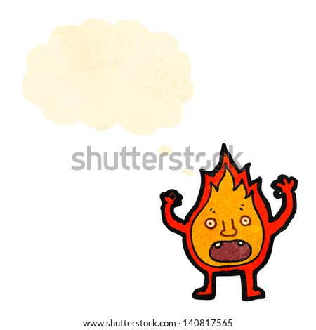 cartoon little flame creature