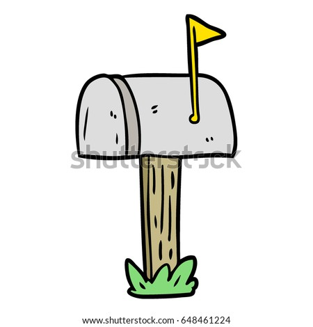 cartoon mailbox stock vector 2018 648461224 shutterstock rh shutterstock com mailbox cartoon drawing mailbox cartoon pictures
