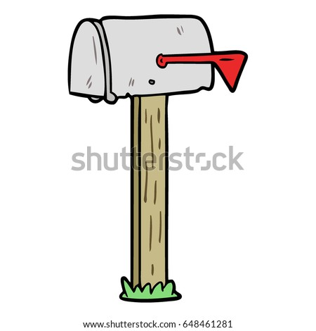 cartoon mailbox stock vector 2018 648461281 shutterstock rh shutterstock com open mailbox cartoon mailbox cartoon images