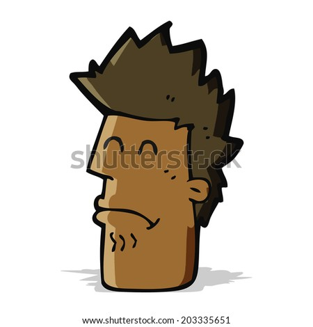cartoon man feeling sick - stock vector