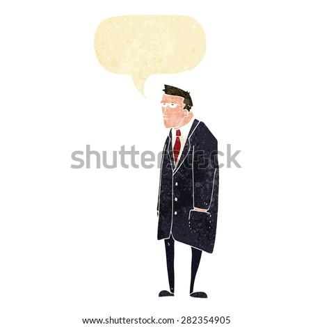 cartoon man in suit - stock vector