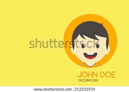 Cartoon man theme business card stock vector 212331934 shutterstock cartoon man theme business card colourmoves