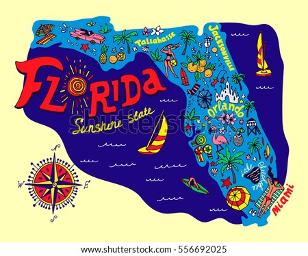 Florida Map Stock Images RoyaltyFree Images Vectors Shutterstock - State of florida map