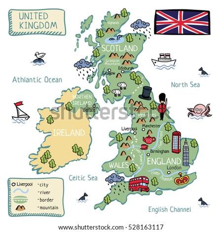 Cartoon map united kingdom england scotland stock vector 528163117 cartoon map of united kingdom england scotland wells north ireland gumiabroncs Choice Image