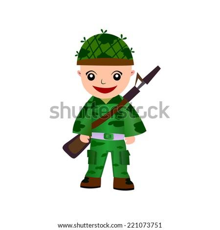 Cartoon Marines - stock vector