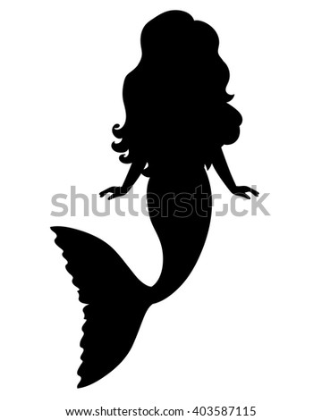 Mermaid Silhouette Stock Images, Royalty-Free Images & Vectors ...