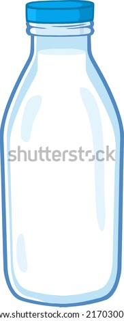 Cartoon Milk Bottle - stock vector