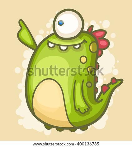 Cartoon Monster - stock vector