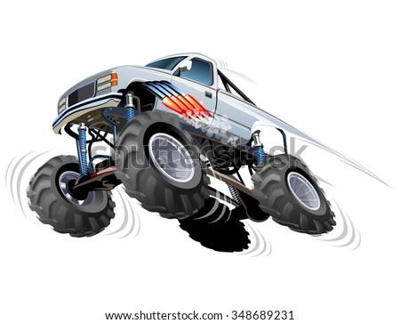 Cartoon Monster Truck - stock vector
