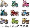 cartoon motorcycle - stock vector