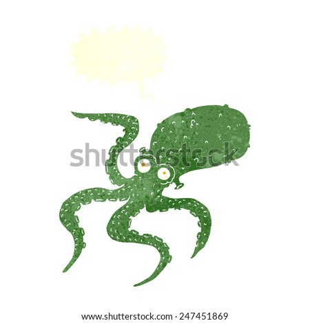 cartoon octopus - stock vector