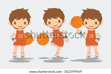Cartoon of Basketball Player, vector illustration - stock vector