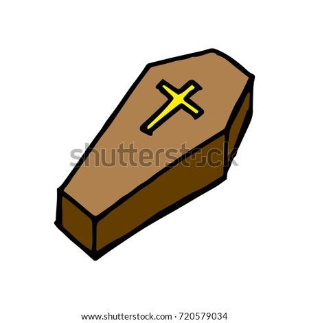 cartoon coffin stock photo photo vector illustration 720579034 rh shutterstock com cartoon coffin images cartoon coffin pictures