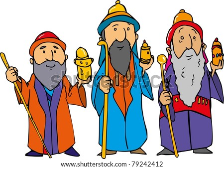 cartoon three wise men gold frankincense stock photo photo vector rh shutterstock com three wise men clipart free three wise men clipart free