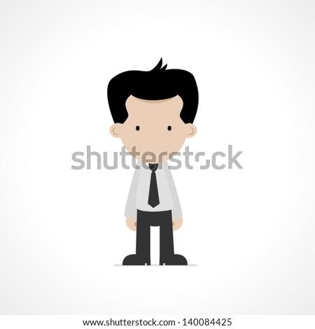 cartoon office worker - stock vector