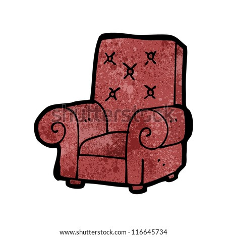 Cartoon Old Leather Chair