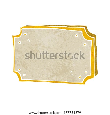 cartoon old sign - stock vector
