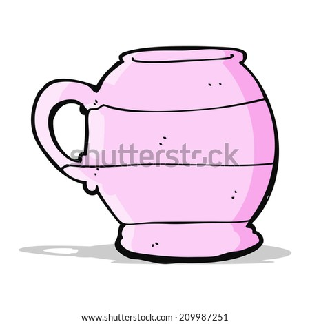 cartoon old style mug