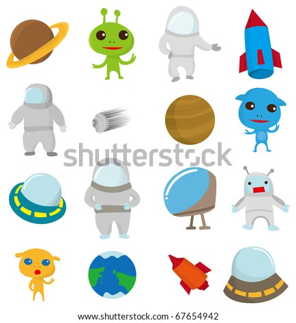 cartoon Outer space icon - stock vector