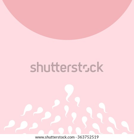 cartoon ovum and sperm, great for Pregnancy Concept - stock vector