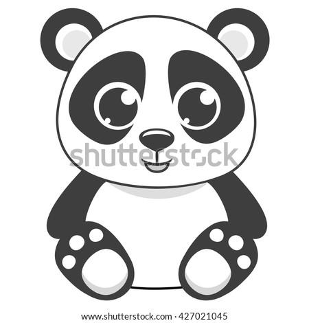 Cartoon Panda Stencil ...