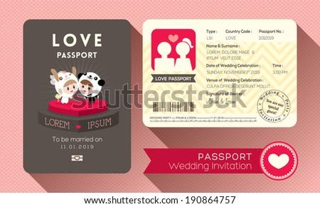 passport design template