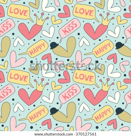 Cartoon patterns cute wallpapers hearts speech stock vector cartoon patterns for cute wallpapers with hearts speech bubble love heart great for baby voltagebd Image collections