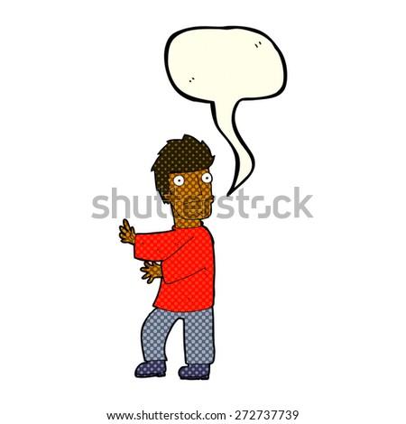 cartoon person speaking - stock vector