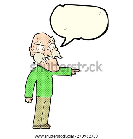 cartoon person with speech bubble - stock vector
