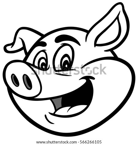 cartoon pig llustration