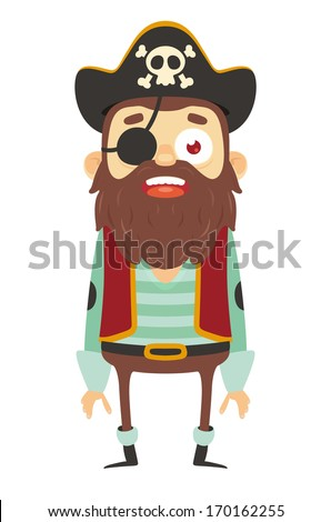 Cartoon Pirate - stock vector