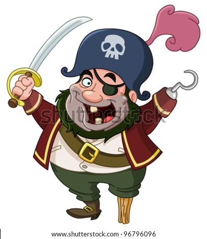 cartoon pirate stock vector 96796096 shutterstock rh shutterstock com pirate cartoon images free pirate cartoon images free