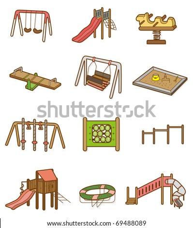 cartoon playground icon - stock vector