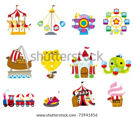 cartoon playground  icon - stock vector
